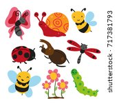 bugs character design | Shutterstock .eps vector #717381793