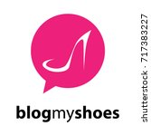 blog my shoes logo. pink bubble ... | Shutterstock .eps vector #717383227
