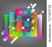 modern  colorful device  mobile ...