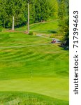 sand bunkers at the golf course. | Shutterstock . vector #717394663