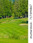 sand bunkers at the golf course. | Shutterstock . vector #717394867