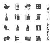 pharmacy icons   Shutterstock .eps vector #717396823
