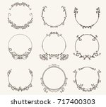 vector set of border circle... | Shutterstock .eps vector #717400303