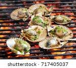 Barbecue Fire Grill  Shellfish...