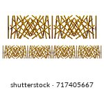 golden  ornamental segment  ... | Shutterstock . vector #717405667