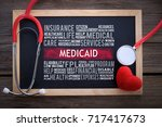 medicaid word clouds on... | Shutterstock . vector #717417673