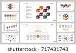 ten banking slide templates set | Shutterstock .eps vector #717431743