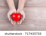 love concept   woman hands... | Shutterstock . vector #717435733