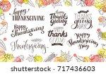 thanksgiving wording isolated... | Shutterstock .eps vector #717436603