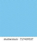 seamless blue zigzag pattern... | Shutterstock .eps vector #717439537