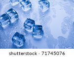 ice cubes   aqua | Shutterstock . vector #71745076