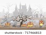 vector illustration of pumpkin...   Shutterstock .eps vector #717466813