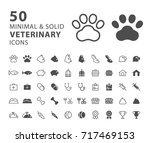 set of 50 minimal and solid... | Shutterstock .eps vector #717469153