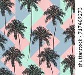 abstract vintage summer pattern ... | Shutterstock .eps vector #717469273