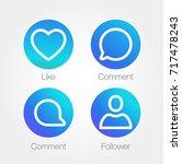 app icon template. raster... | Shutterstock . vector #717478243