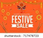 illustration sale poster or... | Shutterstock .eps vector #717478723