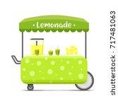 fresh cold lemonade street food ... | Shutterstock .eps vector #717481063