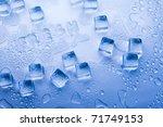 ice cubes   aqua | Shutterstock . vector #71749153