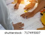 engineering team consulting and ... | Shutterstock . vector #717495007