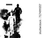running marathon  people run ... | Shutterstock .eps vector #717499357