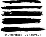 set of grunge brush strokes | Shutterstock .eps vector #717509677