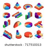 set of sixteen isometric... | Shutterstock .eps vector #717510313