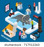 colored and isometric virtual... | Shutterstock .eps vector #717512263