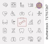 thin lines web icon set  ... | Shutterstock .eps vector #717517267