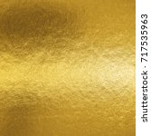 gold foil leaf shiny metallic... | Shutterstock . vector #717535963