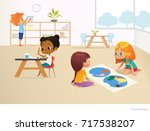 multiracial children in... | Shutterstock . vector #717538207