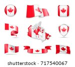 flag collection   canada set | Shutterstock .eps vector #717540067