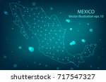 vector map   abstract mash... | Shutterstock .eps vector #717547327