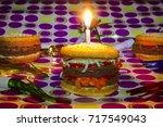 dessert imposter mock double...   Shutterstock . vector #717549043