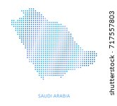 saudi arabia map  dot vector... | Shutterstock .eps vector #717557803