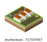 farm isometric dimensional 3d... | Shutterstock .eps vector #717557857