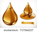 honey drop. 3d vector icon set | Shutterstock .eps vector #717566227