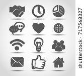 social media icon in grunge... | Shutterstock . vector #717568327