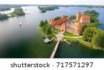 aerial view of trakai castle ... | Shutterstock . vector #717571297