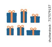 set of present boxes different... | Shutterstock .eps vector #717579157