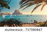 cala d'hort beach. cala d'hort... | Shutterstock . vector #717580867