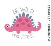 little dinosaur. vector... | Shutterstock .eps vector #717584593