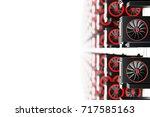 design element. 3d illustration.... | Shutterstock . vector #717585163
