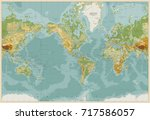 america centered physical world ... | Shutterstock .eps vector #717586057