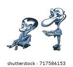 cartoon caricature man...   Shutterstock .eps vector #717586153