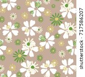 small floral pattern. cute... | Shutterstock .eps vector #717586207