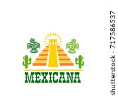 mexican food isolated icon of... | Shutterstock .eps vector #717586537