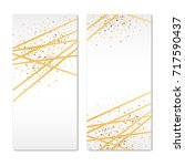 gold banners sparkles background | Shutterstock . vector #717590437