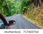 car on the road with motion... | Shutterstock . vector #717603763