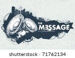 modern sketchy style banner... | Shutterstock .eps vector #71762134