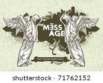 modern sketchy style banner... | Shutterstock .eps vector #71762152